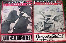 1941 'ILLUSTRAZIONE ITALIANA' LOTTO 2 RIVISTE BATTAGLIA DELLA MARMARICA E RUSSIA