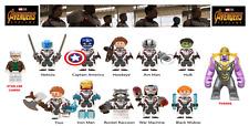 Marvel Avengers 4 End Game Lego Moc Custom Minifigures Bricks Blocks Stan Lee