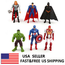 The Avengers Hulk Batman Ironman Hulk Action Figure Doll Toys Kids Gift 6 Pcs