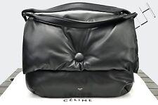 CELINE PARIS 3400$ New Supersoft Lambskin Medium Black Pillow Shoulder Bag