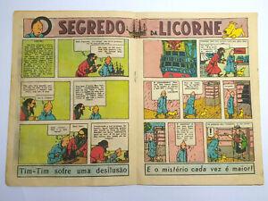 RARE 1947 TINTIN First Color Appearance O PAPAGAIO BD Portuguese Magazine #624