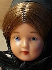 🧸⚜Alte Celluloid Puppe mit orig. Kleidchen Perücke Puppenstubenpuppe mit 13cm ❤