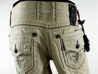 """$220 Mens Rock Revival Pants """"Commando Twill Pocket"""" Tan 34 X 29"""