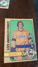 1972-73 OPC SIGNED ROOKIE CARD BARRY LONG KINGS RED WINGS JETS WHA # 288