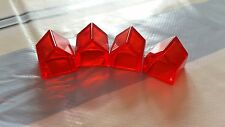 Monopoly Revolution Board Game Spare  Replacement x4 Red Transparent Hotels (4)