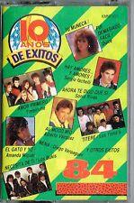 10 Anos de Exitos 1984     BRAND NEW-SEALED CASSETTE