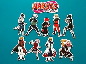 10 PCS Naruto Vinyl Laptop Stickers Anime character waterproof