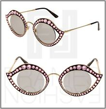 ae27e9132 Gucci Crystal Lips Stud 0046 Gold Pink Silver Mirrored Metal Sunglasses  Gg4287s