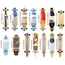 Two Bare Feet Longboard Skateboard Wooden Pintail Cruiser Kick Tail Carver Skate