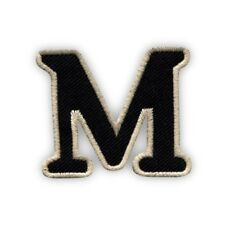 Letter M - black Embroidered PATCH/BADGE