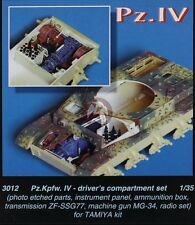 CMK 1/35 Panzerkampfwagen IV Driver's Compartment Set (for Tamiya kit) 3012