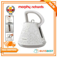Morphy Richards Rapid Boil Traditional Prism Pyramid Kettle In White - 108110
