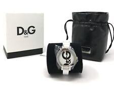 D&G DW066 Dolce & Gabanna Hoop-La Ladies Watch White Rubber Strap NEW