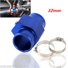 32mm Blue Car Water Temp Temperature Gauge Joint Pipe Sensor Hose Adapter New