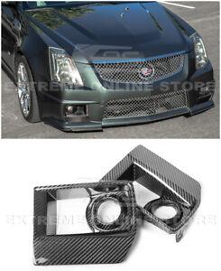For 09-15 Cadillac CTS-V | GM Factory CARBON FIBER Front Fog Light Grille Cover