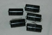 "QTY 5 NOS CORNELL DUBLIER "" BLACK CAT "" .47@600v TUBULAR COUPLING CAPACITORS!"