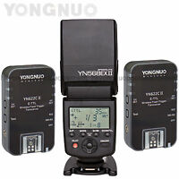 Yongnuo Wireless Flash Speedlite YN568EXII C Trigger YN622C II HSS TTL for Canon