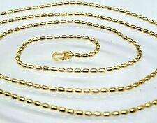 Kette  Oval  Kugel Kette 40 cm   925  Sterling Silber  Vergoldet