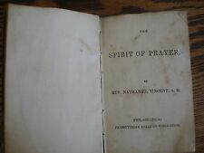 1ST ED ANTIQUE 1840 SPIRIT OF PRAYER BOOK BIBLE PRESBYTERIAN BOARD PHILA PA