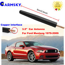 "For 1979-2009 Ford Mustang Short Radio Antenna 3.5"" Black Billet Stealth Stubby"