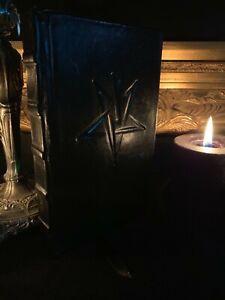 "Leather Bound Hardcover ""The Satanic Rituals"" Anton LaVey Bible Magick Grimoire"