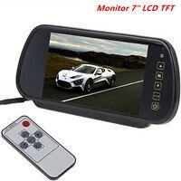 7'HD LCD TFT Color Screen Car Reverse Rear View Backup Camera DVD Mirror Monitor