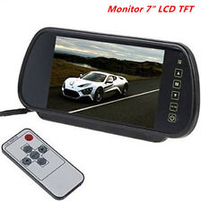 7'HD LCD TFT Color Screen Car Reverse Rear View Backup Camera DVD Mirror Monitor