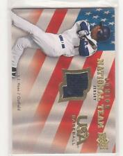2008 Upper Deck USA Junior National Team L.J. Hoes game used jersey card RC
