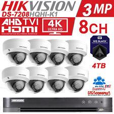 Hikvision CCTV Security Camera Kit WEATHER / VANDAL PROOF 3Megapixel 4TB WD