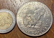 GROSSE PIECE DE 1 DOLLAR EISENHOWER 1972 D (623) AIGLE
