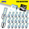 20x 1156 BA15S 1141 1003 18 SMD Interior RV Camper White LED Light Bulbs 6000K