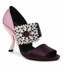 $2,600 Roger Vivier Purple Jeweled Broach Sandal Hills Shoes Size 6.5 / 36,5