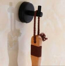 Black Round Stainless Towel Steel 304 Bathroom Single Robe Coat Hat Hanger Hook
