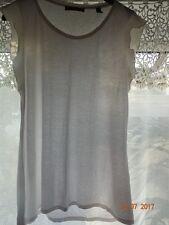 💕New ESPIRIT Satin Ruffle Sleeved White Top  Size L (14) 💕