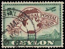 CEYLON 304 (SG410) - Universal Postal Union 75th Anniversary (pf81409)