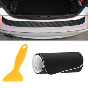 1x Black Vehicle Sticker Rear Bumper Trunk Protector Scraper Self-adhesive Decor