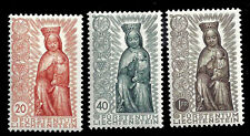Liechtenstein. Madonna in Wood. 1954. Scott 284-286. MLH (BI#14)