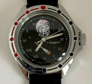 USSR Gagarin wristwatch with first cosmonaut mechanical men Vostok