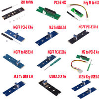 M.2/NGFF to USB3.0/SSD Port PCI-E Converter Adapter Miner Graphic Extender Card