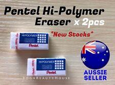 *2pcs* Pentel Hi-Polymer Quality Eraser (student school rubber erasers pencil)