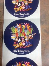 Lot (12) New Walt Disney World Happy Birthday Stickers Unused!  MICKEY MOUSE