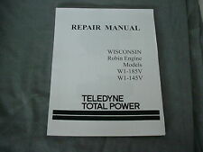 WISCONSIN  ROBIN  ENGINE  W1-185V  W1-145V  REPAIR MANUAL BRAND NEW