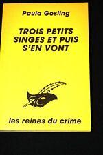 PAULA GOSLING-TROIS PETITS SINGES ET PUIS S'EN VONT LE MASQUE 1989