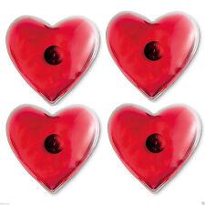 Ensemble de 4 réutilisable forme cœur Coussins chauffants / main SKI /