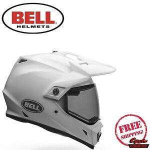 BELL MX-9 ADVENTURE MIPS GLOSS WHITE HELMET FREE SHIPPING
