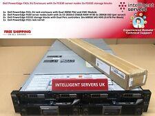 Dell FX2s 2x FC630 256GB Server 2x FD332 19.2TB SAS Storage 2U Rack Enclosure