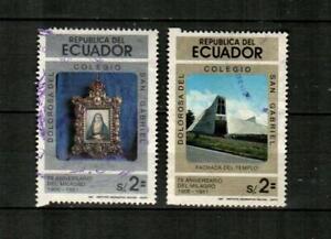 ECUADOR Scott's 1015-16 ( 2v ) Virgin of Dolorosa F/VF Used ( 1981 )