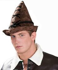 Robin Hood Hat Brown Medieval Fancy Dress Halloween Adult Costume Accessory