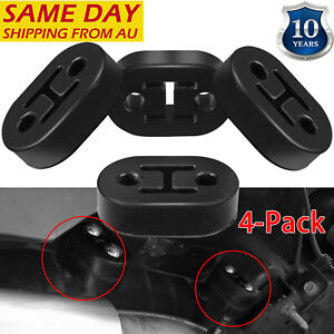 4 pcs Universal Car Vehicle Exhaust Pipe Mounting Mount Rubber Hanger Bracket