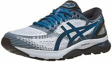 ASICS Gel-Nimbus 21 Men's White & Deep Sapphire Mesh Running Shoes US 10.5 M